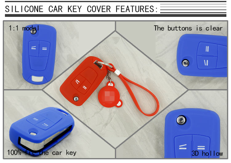 opel silicone car key protective covers