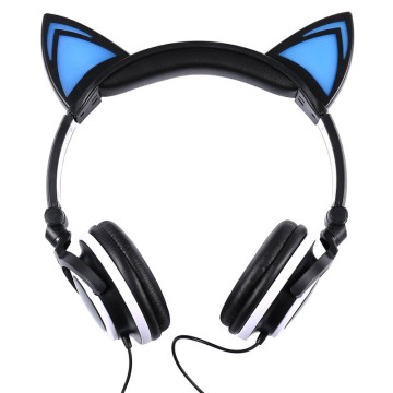 Factory price custom cute fashion headphone cat headset
