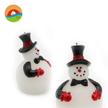 Cute lovely christmas art candle snowman led candle