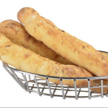 Stainless Steel304 Silver Oval Wire Bread Basket