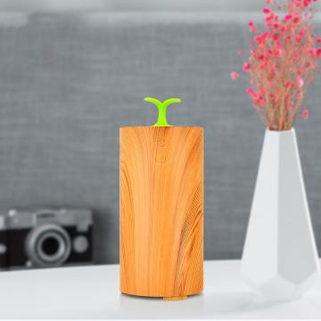 Wood Grain Waterless Led Light Scent Diffuser Humidifier
