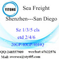 Shenzhen Port Sea Freight Shipping To San Diego