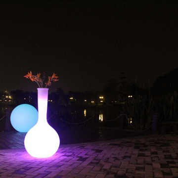 Multi-Color Changing LED Plastic Large Flower Pots
