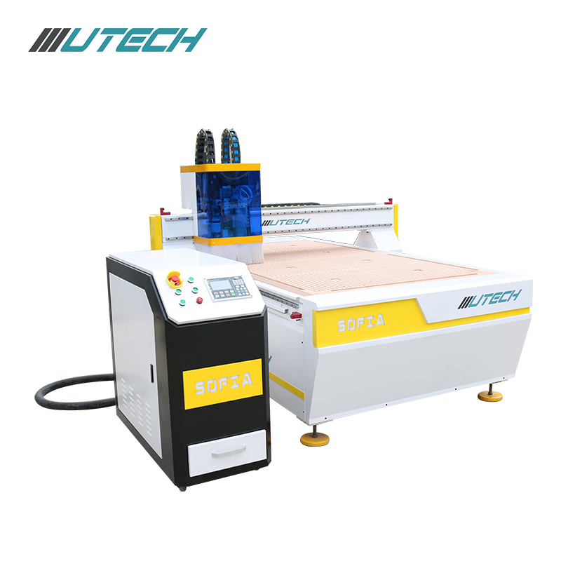 Oscillating knife cnc router machine