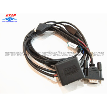 overmolded cable with filter fuse box