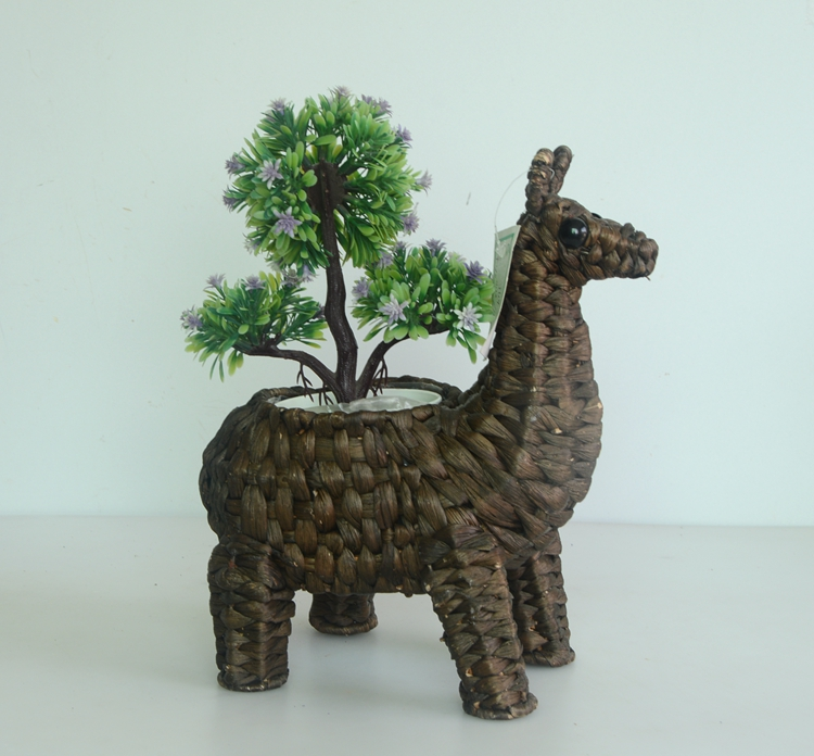 coffee water hyacinth handicraft alpaca decoration pot-3