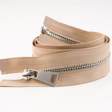 Hot sale secure silvery metal zippers for handbag