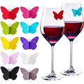 Wine Glass Markers Butterfly Tags with Magnetic Silicone