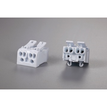 2 Poles Multipolar Wire Connector With Fixed Foot