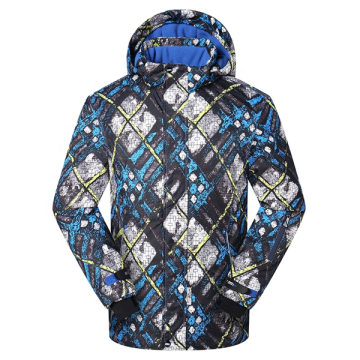 Winter Printing Ski Snow Parka Coat With Hood