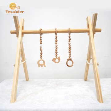 Eco-friendly Animal Baby Gym With Hanging Teether Toy