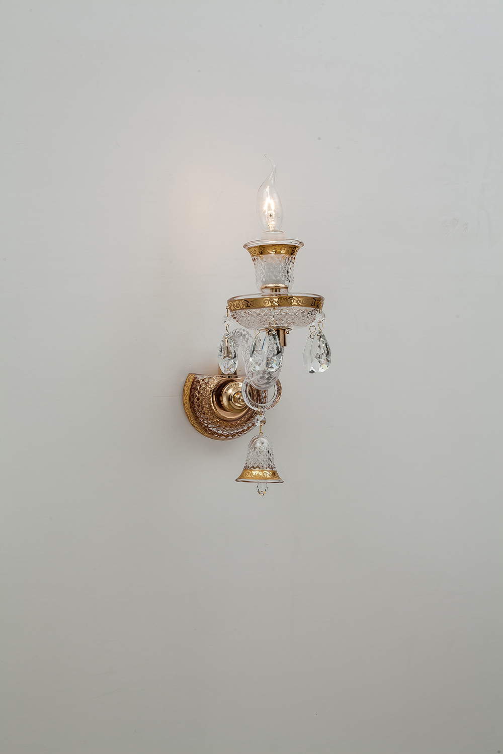 crystal wall light glass