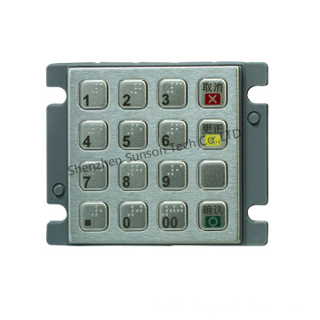 OEM Metal Encrypted Keypad for Portable Kiosk