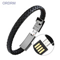 Fashion portable USB phone leather charger bracelet