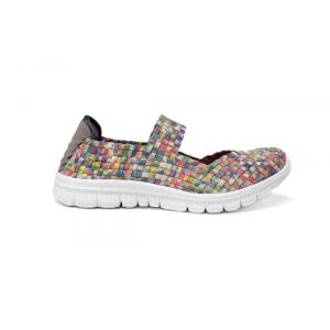 Colorful Woven Design Flat Casual Dance Shoes