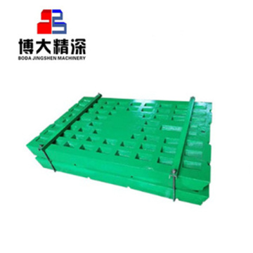 crusher parts jaw plate on sale