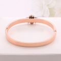 Antique Enamel Rose Gold Stainless Steel Bee Bracelet