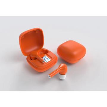 Girl's pair of wireless Bluetooth earphones