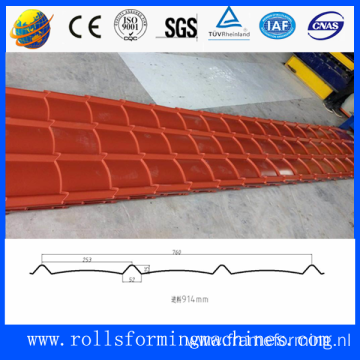 High precision glazed tile roof sheet production line