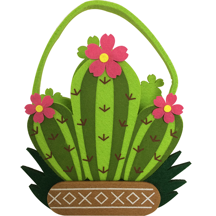 Easter Cactus Pattern Candy Bag