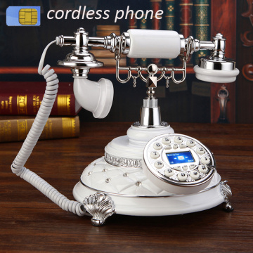 retro radiotelephone Antique archaic GSM 900 1800 MHz SIM Card Fixed Phone cordless retro Wireless Telephone home office hotel