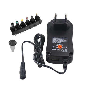30W Universal Wall Charger With 6Selectable Adapter Tips