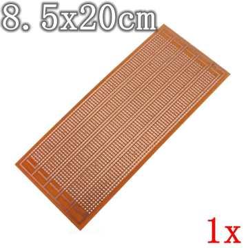 1pc PCB Prototype Printed Circuit Board Universal Matrix Stripboard DIY 8.5x20cm Single Side Copper PCB