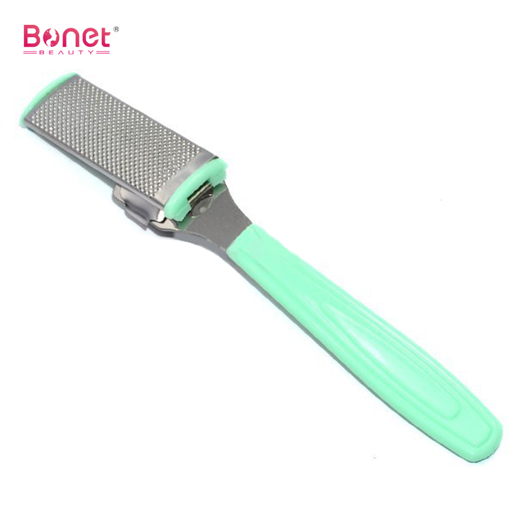 Safety Slide PP Handle Foot File With Rasp