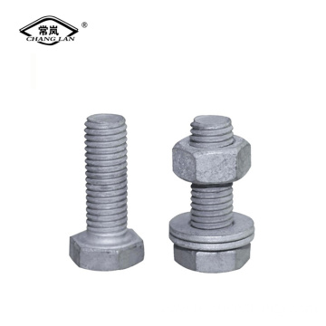 Galvanized hex head bolts grade 8.8