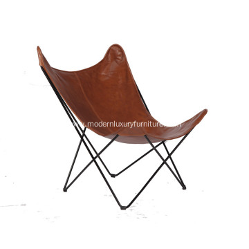Cozy Metal Frame Butterfly Lounge Chair