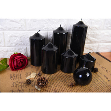 Custom High Quality Wholesale Shinny Pillar Candles