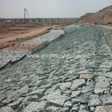 PVC Coated Hexagonal Mesh Gabion Basket
