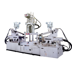 Multicolor multimaterial vertical injection molding machine