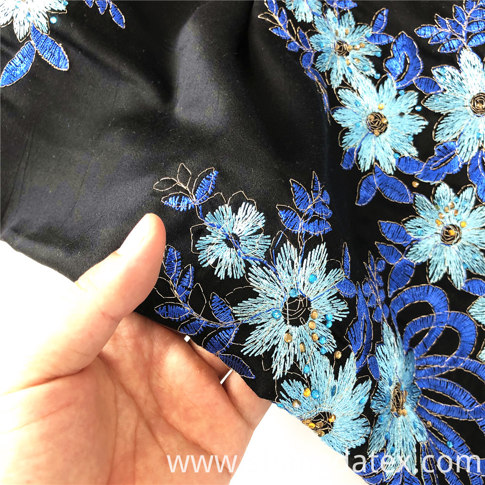 Popular Rayon Satin Embroidery