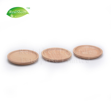Small Round Rubber Wood Serving Plate