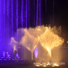 outdoor water features musical fountain
