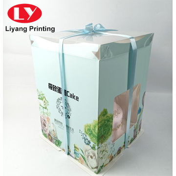 birthday cake gift packaging box with window