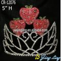 Bright Red Strawberry Custom Pageant Crowns