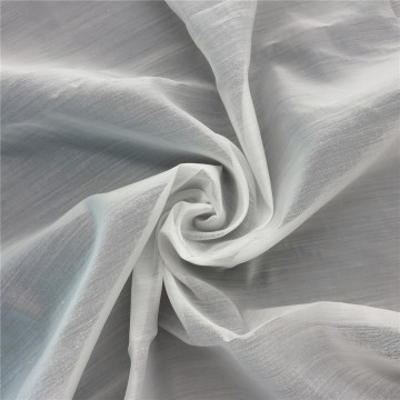 Soft Handfeel White Cotton Organza Tulle Fabric