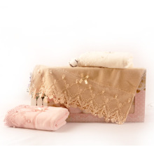 soft colour lace towel