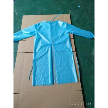 Disposable PP+PE  non-woven isolation gown  with CE ,FDA Certificate
