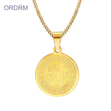 Muslim Pendant Jewelry Allah Necklace Gold Mens