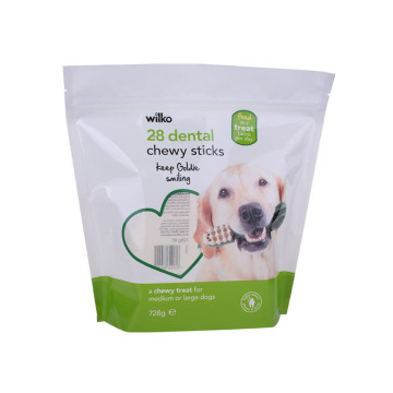 compostable dog pouch for pet food with zipper