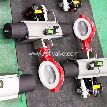 Pneumatic Actuated PTFE Butterfly Valve