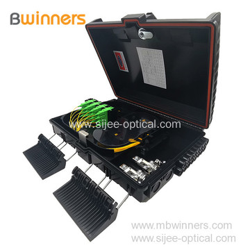 Outdoor Wall Mount 16 Fibers FTTH Terminal Fiber Optic Distribution Box for Telecommunication