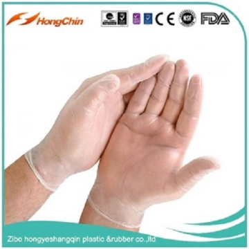 blue food kicken vinyl gloves disposable gloves