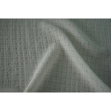 Polyester 4 Way Spandex Crinkle Check Dyed Fabric