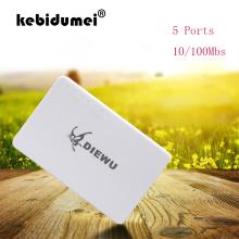 kebidumei Mini Fast Ethernet LAN RJ45 Network Switch 5 Ports Switcher Hub Desktop PC US/EU adapter for PC Laptop webcam