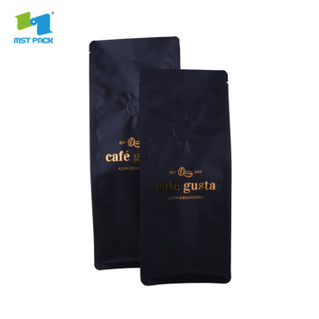 Flat Bottom Gusset Reusable Matt Black Coffee Bags