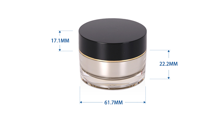 15 g Traditional Round Shape Cosmetic Acrylic Jar
